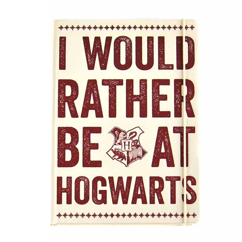 Notebook A5 - I Would Rather be at Hogwarts (Bianco)
