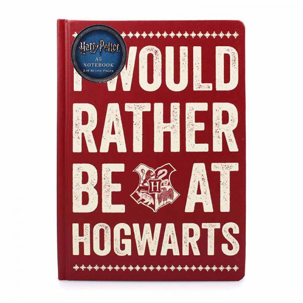 Notebook A5 - I Would Rather be at Hogwarts (Bordeaux)