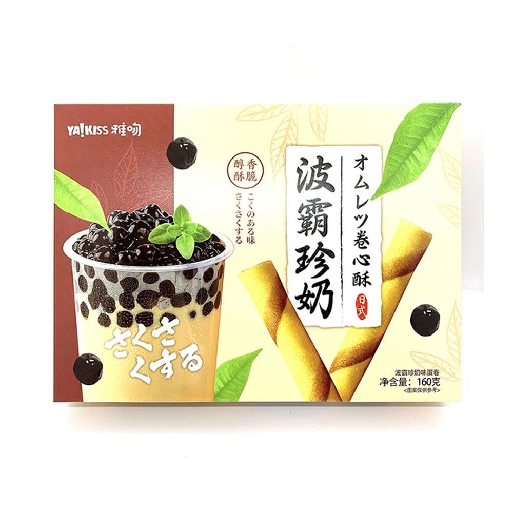 Biscotti Roll Boba Milk Tea