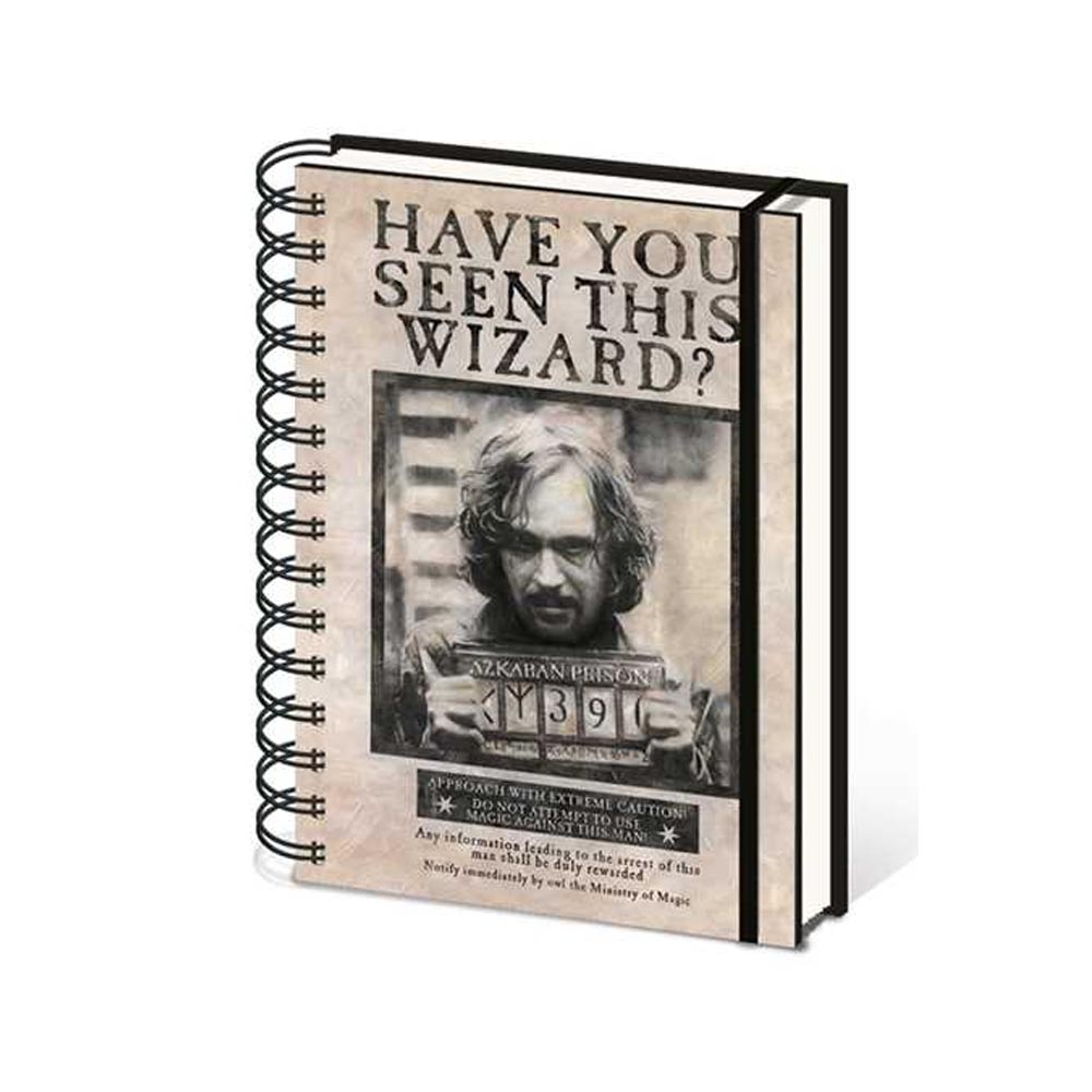 Notebook A5 Sirius Black Wanted