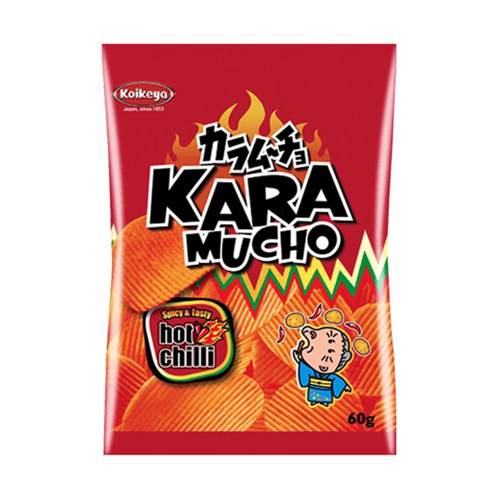 Kaamucho Potato Chips Hot Chili Ridge Cut