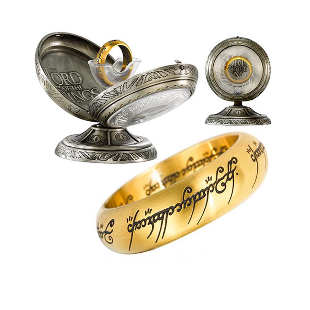Il Signore degli Anelli - Anello in acciao dorato