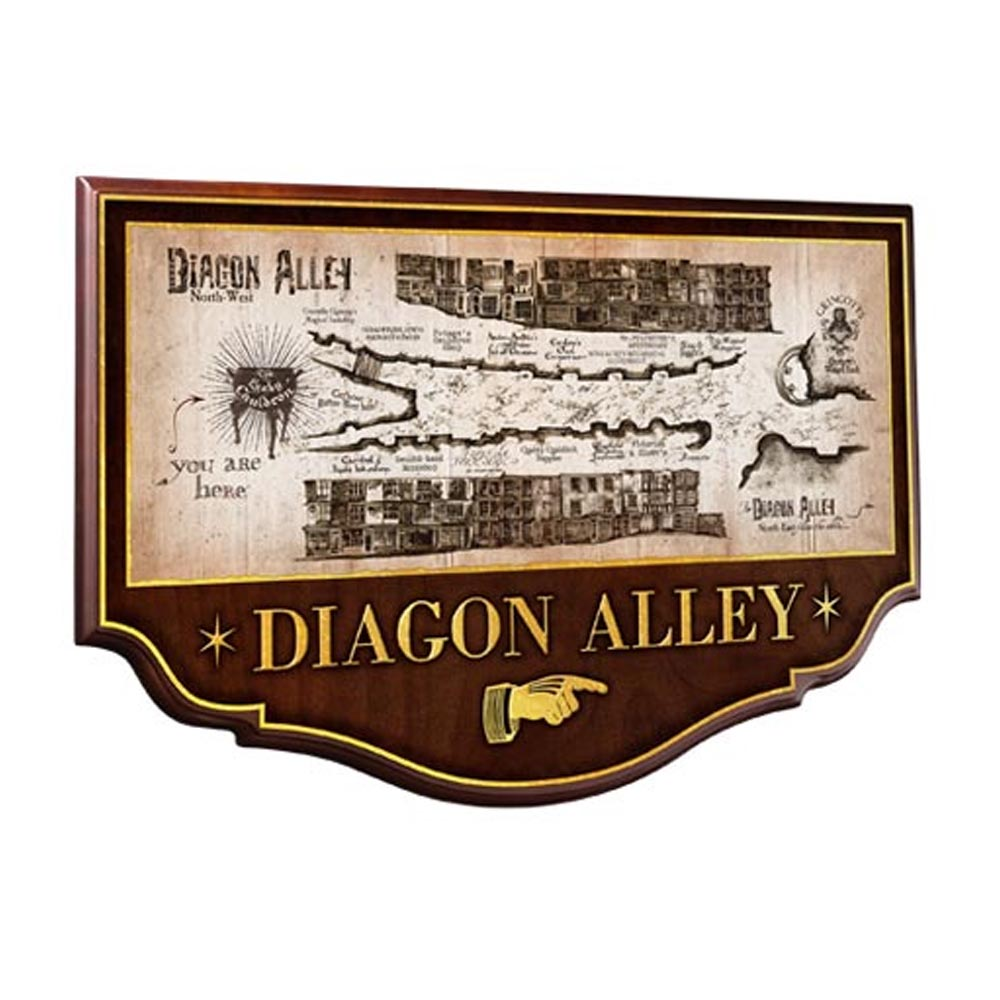 Placca Murale Diagon Alley